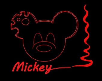Mickey Mouse svg file, disney svg file for Clipart or Cricut
