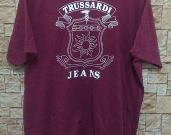 Mega Sale!! Vintage Trussardi Big Logo T shirt