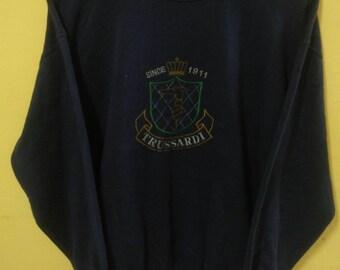 Vintage Trussardi Sweatshirt Big Logo Embrodery