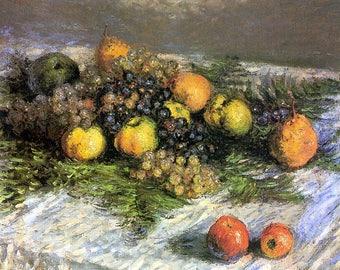 SET of TABLE semi-rigid ORIGINAL AESTHETIC WASHABLE and durable-Claude Monet - still life.