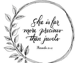 More Precious Than Jewels Pring