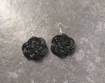 Leather earrings Celtic knot