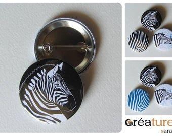 Badge illustration vector Zebra head