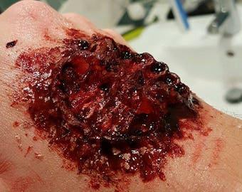 Set Of 3 Zombie Bite Halloween Prosthetic