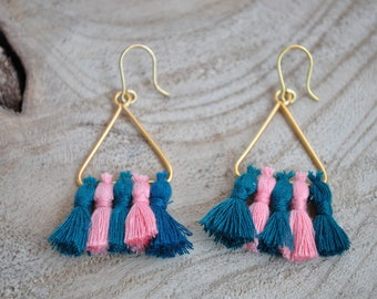 Tassels - Lisbon triangle earrings