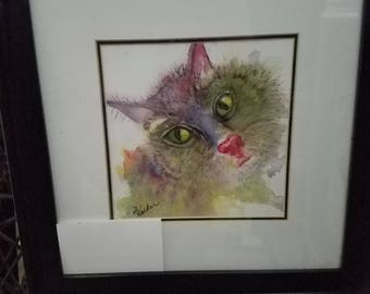 Cuteness (original watercolor)