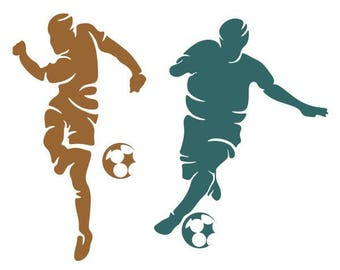 Soccer Player SVG PNG DXF & eps Designs Cameo File Silhouette