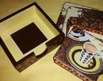 Wooden trays for cups