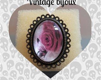 Bronze ring adjustable retro tie
