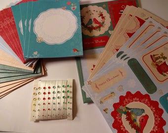 Kit - die cut - Ribbon and rhinestones - Christmas theme card making