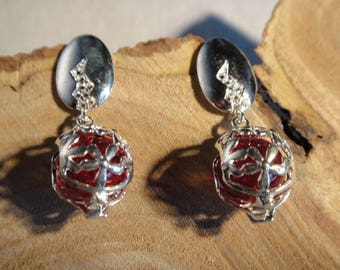 Pierced with silver plated Stud Earrings