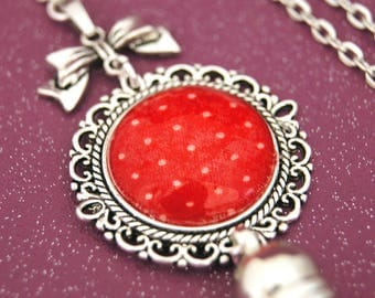 VINTAGE RED - SA009 DOTS NECKLACE