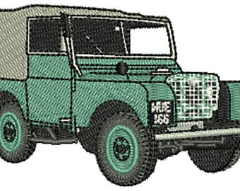 Landrover Series 1 Embroidery Pattern