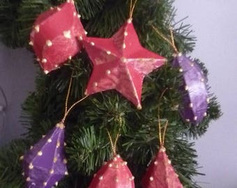 Set of 6 decorative balls for Christmas tree