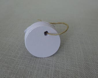 Coin diameter 4cm, cardstock and punched tags