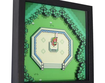 "The Legend of Zelda: A Link to the Past - 3D Shadow Box (9"" x 9"")"
