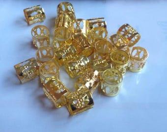 50 Gold Adjustable Hair Cuff/Bead for Dreadlocks Box braids cornrows and plaits