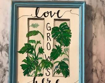 Handmade Wall Decor | | Love Grows Here