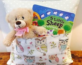 Childrens Owl pocket cushion