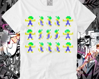 T Shirt HOTBOX Lemmings Computer Game Kult Cult Gamer Nerd Atari Commodore C64 Amiga