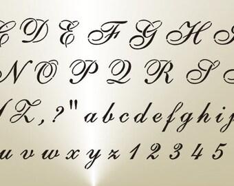 806 Cursive Alphabet