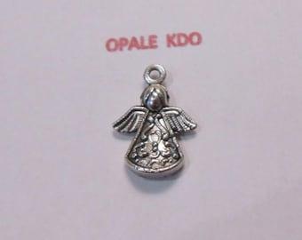 Metal Angel pendant charm silver 2 x 1.5 cm