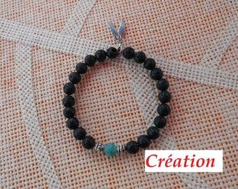 Crystal, glass and rhinestone Stretch Bracelet