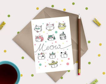 Cute cats digital stamp - digital stamp