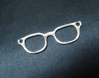 Maxi glasses charm large 8 cm metal charm