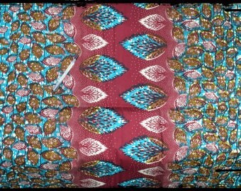 "coupon ""foliage"" African wax fabric"