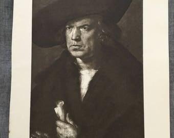 Divier. Hans Imhoff. 1920's antique print