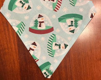 Snowman Dog Bandana / Over the Collar / Winter Bandana