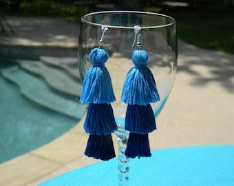 Tassel Earrings - Beach Waves