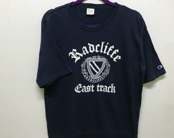 Rare!!! Champion Shirt Pullover Small Logo Embroidery Radcliffe Spellout