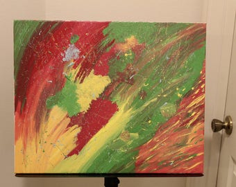 Acrylic Rasta Decor Painting