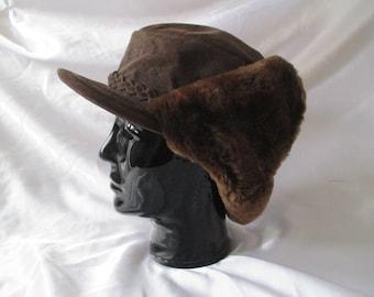 Finn Hat vintage real fur hat, fur hat, winter hat,