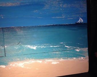 Pallet Art - Seascape - Original Painting