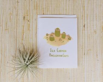Isla Carmen Pincushion Cacti Greeting Cards