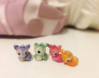 Polymer Clay Fox Charms