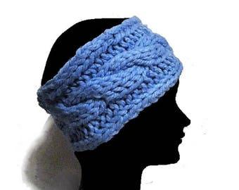 Headband laine, bandeau, tricoté-main, turban, serre-tête, cache oreilles