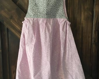 Girls Summer Dress with Tie Shoulder Size 6