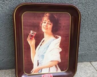 "Vintage Coca Cola ""Flapper Girl"" tray Canadian edition 1979"