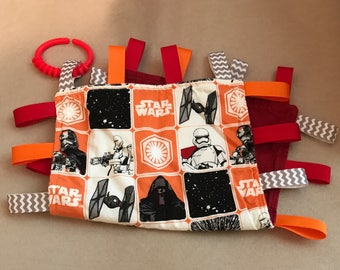 Tag Blanket - Star Wars Lovey - Teething Blanket - Ribbon Blanket - Baby Gift