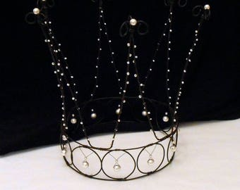 deco wire Crown customizable pearls