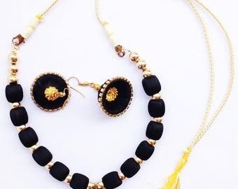 Gunu Handmade silk jewelry Necklace