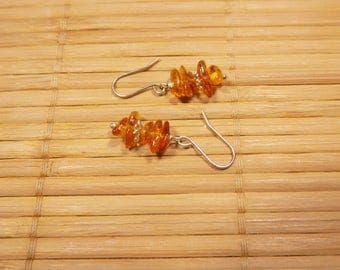 Earrings amber and Silver 925