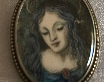 Vintage Sterling Portrait of a Lady