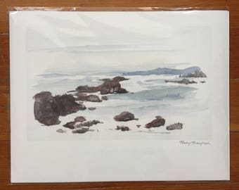 Fitzgerald Marine Reserve Watercolor - Giclee Print