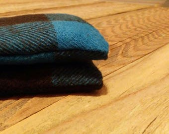 Blue Flannel Hand Warmers