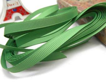 5 x meter green 6mm grosgrain Ribbon trim
